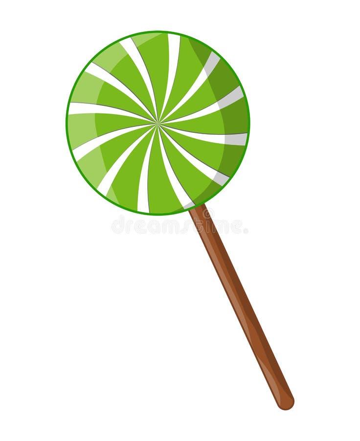 Peppermint lollipop στροβίλου ριγωτό διανυσματικό σχέδιο εικονιδίων συμβόλων ελεύθερη απεικόνιση δικαιώματος