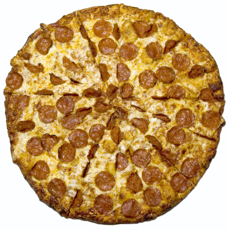 pepperoni odosobniona pizza obrazy royalty free