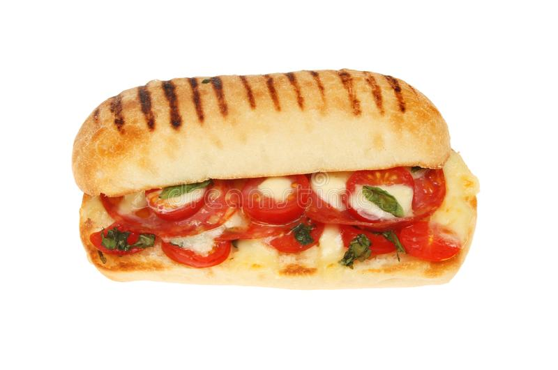 Download Pepperoni panini isolated stock image. Image of cooked - 105387405