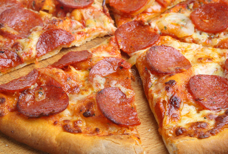 Download Pepperoni Pizza stock image. Image of meat, mozzarella - 10359213