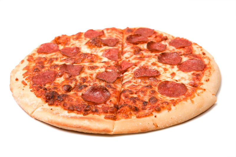 Pepperoni Pizza Royalty Free Stock Photography