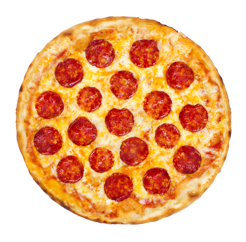 Pepperoni-Pizza stockbilder