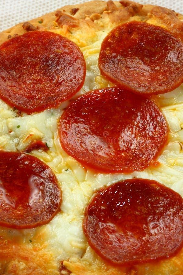 Pepperoni-Pizza stockbild