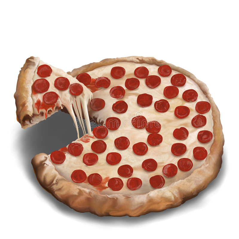 Download Pepperoni Pizza stock illustration. Illustration of delicious - 9099046