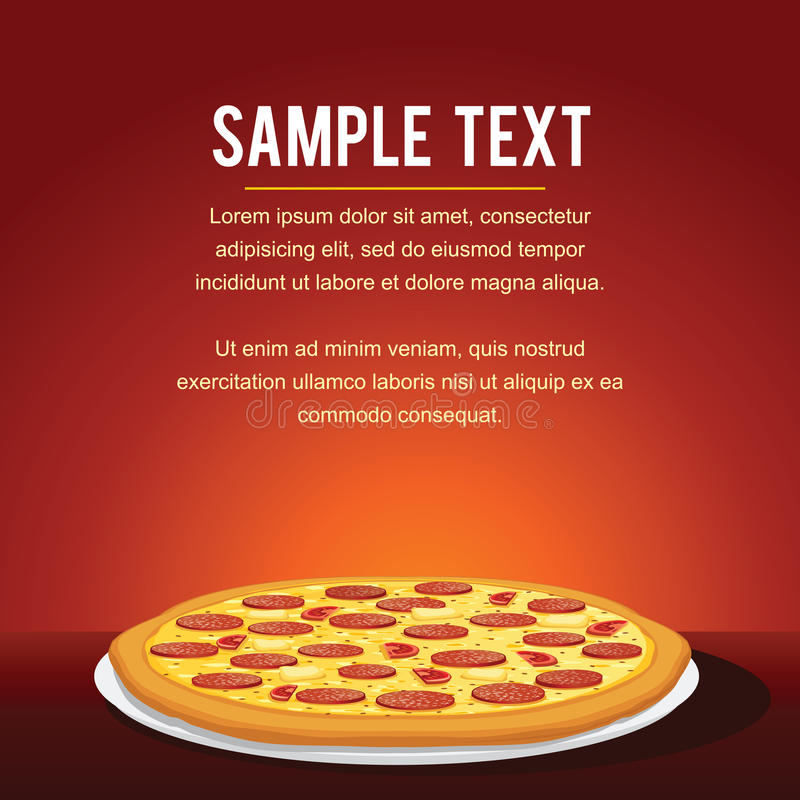 Pepperoni Pizza Background. Vector vector illustration