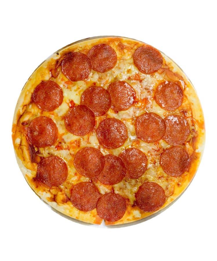 Pepperonis und Käsepizza lizenzfreie stockbilder