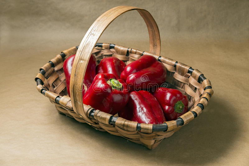 Download Peppers stock photo. Image of still, pepper, basket, vegetable - 40145370