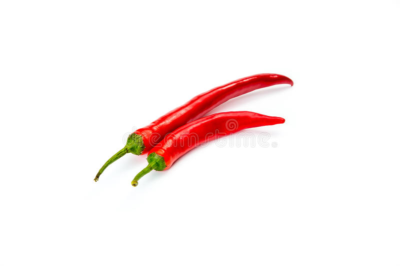 Peppers chili isolated on white. Red onion, Garlic, peppers chili and pepperbox isolated on white background stock images