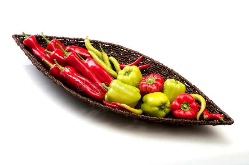 Peppers & chillies stock image