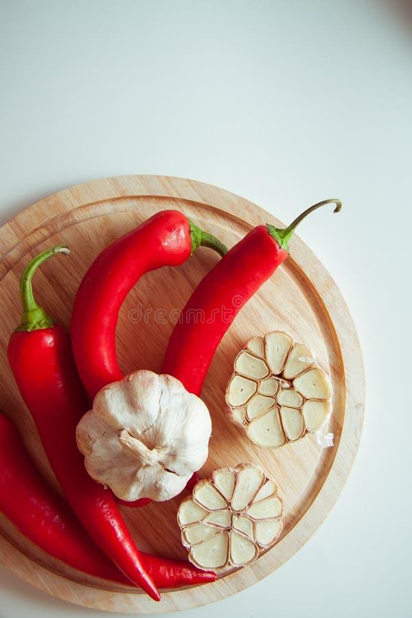 Peppers&garlic royalty-vrije stock foto's