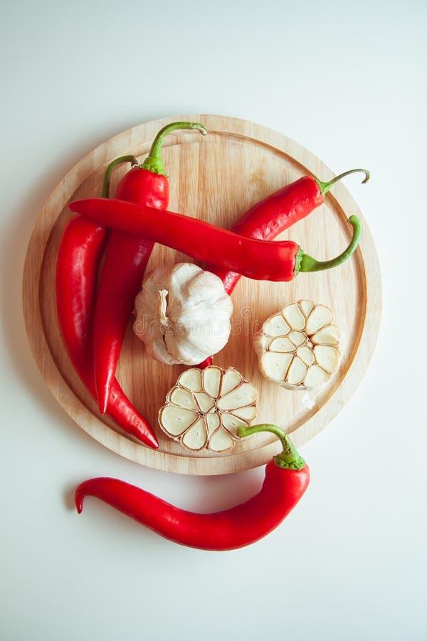 Peppers&garlic royalty-vrije stock fotografie