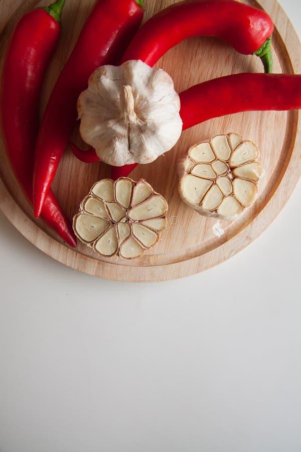 Peppers&garlic fotografia stock libera da diritti