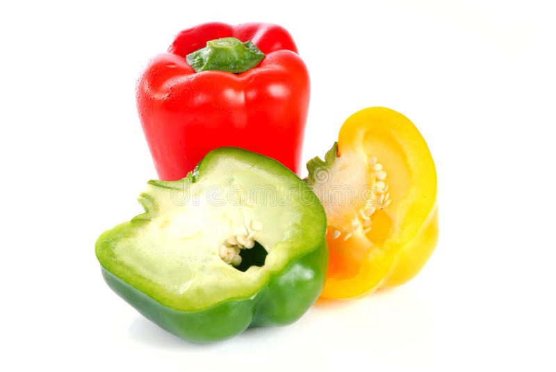 Download Peppers isolated stock image. Image of against, spice - 14858383