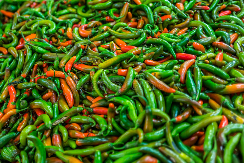 Peppers at a market in Mexico - 2. Peppers at a market in Mexico royalty free stock photography