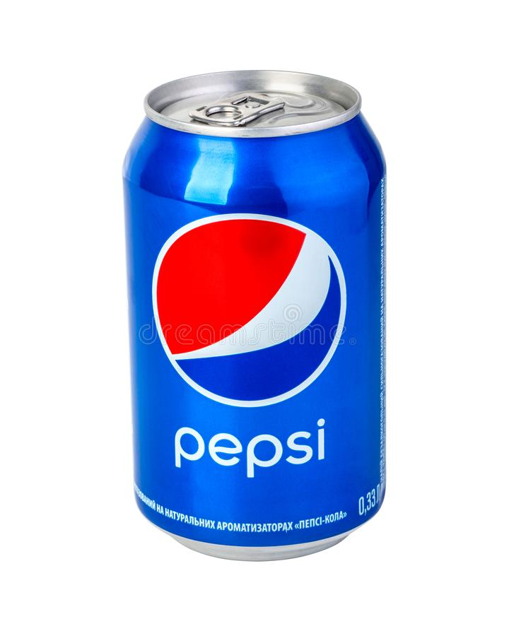 Free Pepsi Can On White Background Royalty Free Stock Photography - 131299337