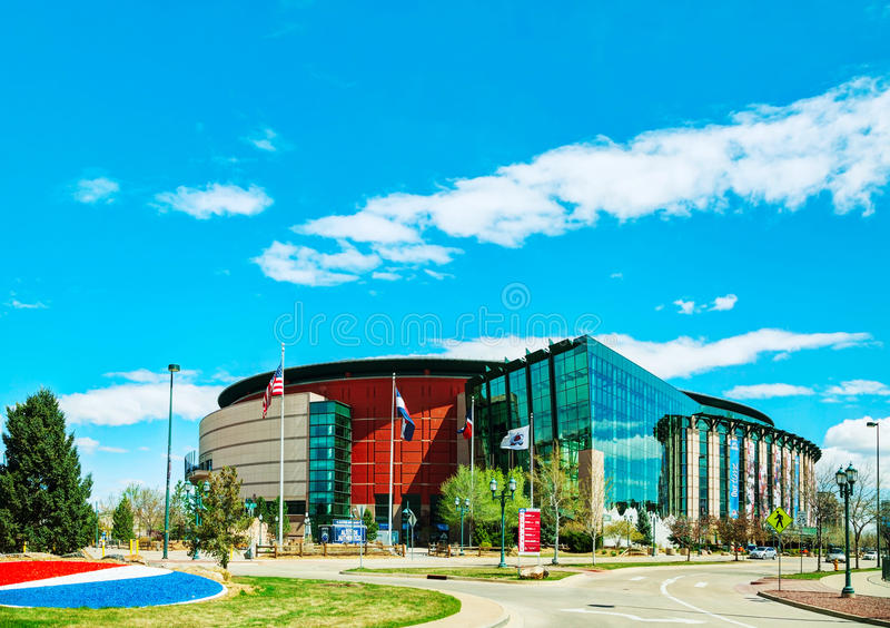 Pepsi-Centrum in Denver, Colorado stock foto