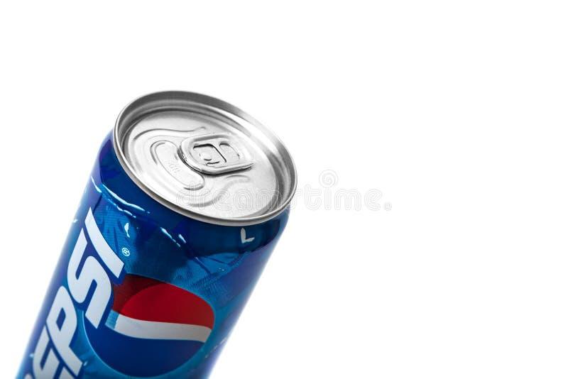 Pepsi-Cola 2000s alkoholfreies Getr?nk kann Begrenzte Ausgabe lizenzfreie stockfotografie