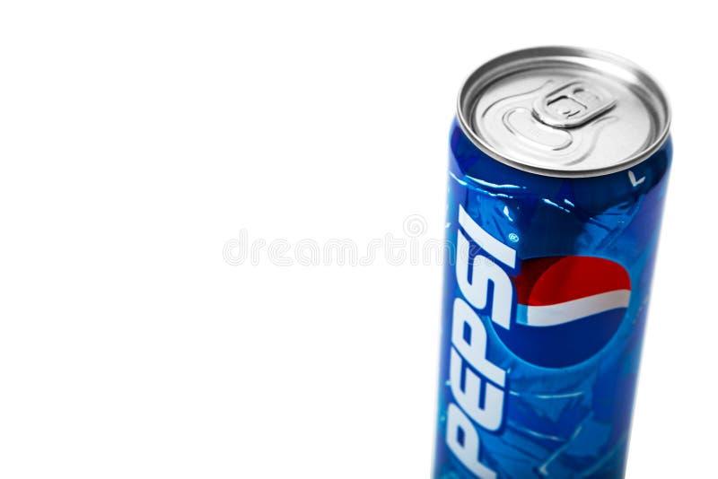 Pepsi-Cola 2000s alkoholfreies Getr?nk kann Begrenzte Ausgabe stockfotografie