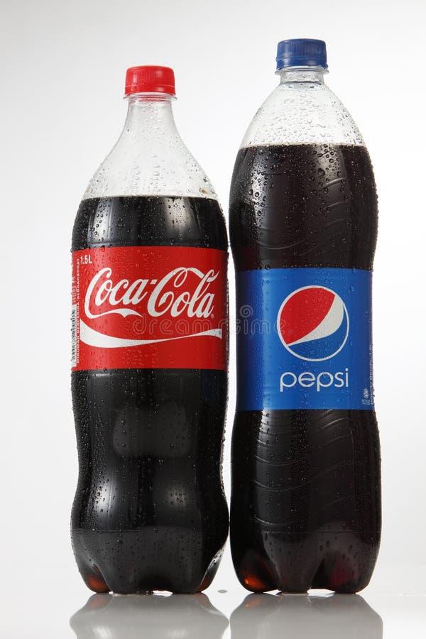 Pepsi en coca-cola royalty-vrije stock foto