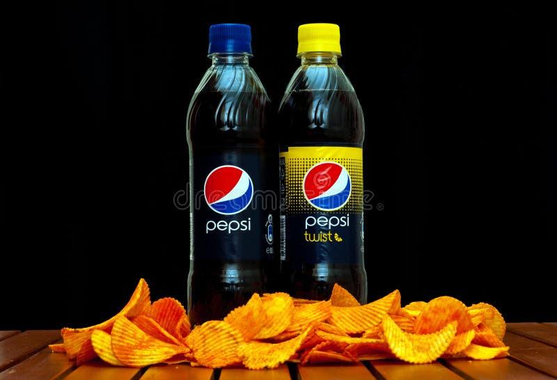 Pepsi en pepsi-draai royalty-vrije stock afbeeldingen