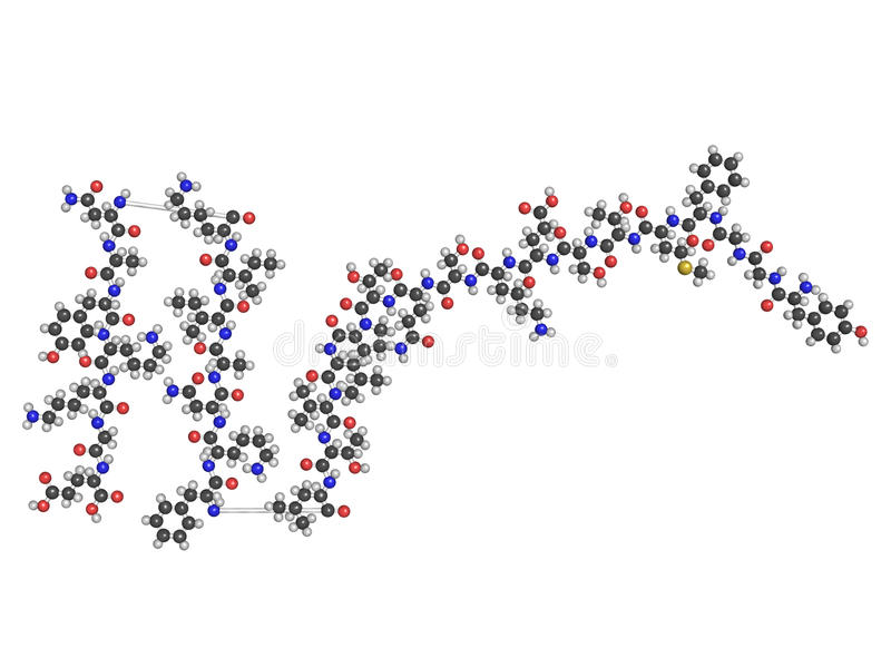 peptide de soulagement de la douleur de Bêta-endorphine, constitution chimique illustration libre de droits