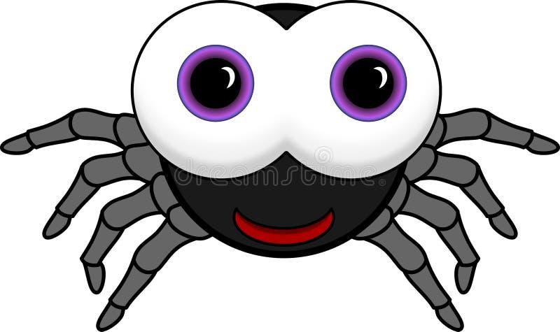 Pequeña araña negra linda imágenes de archivo libres de regalías