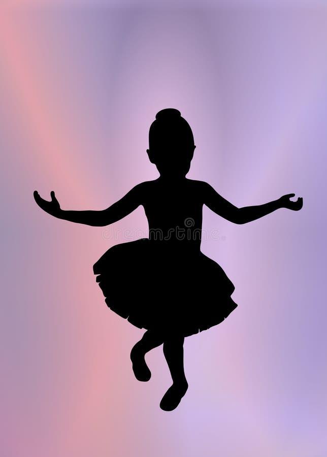 Pequeña bailarina 1 stock de ilustración