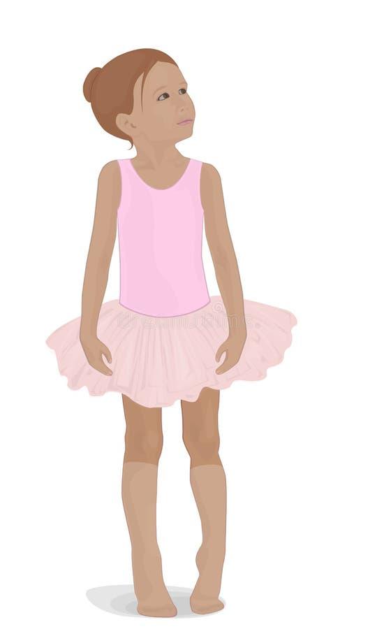 Pequeña bailarina en un tutú rosado libre illustration