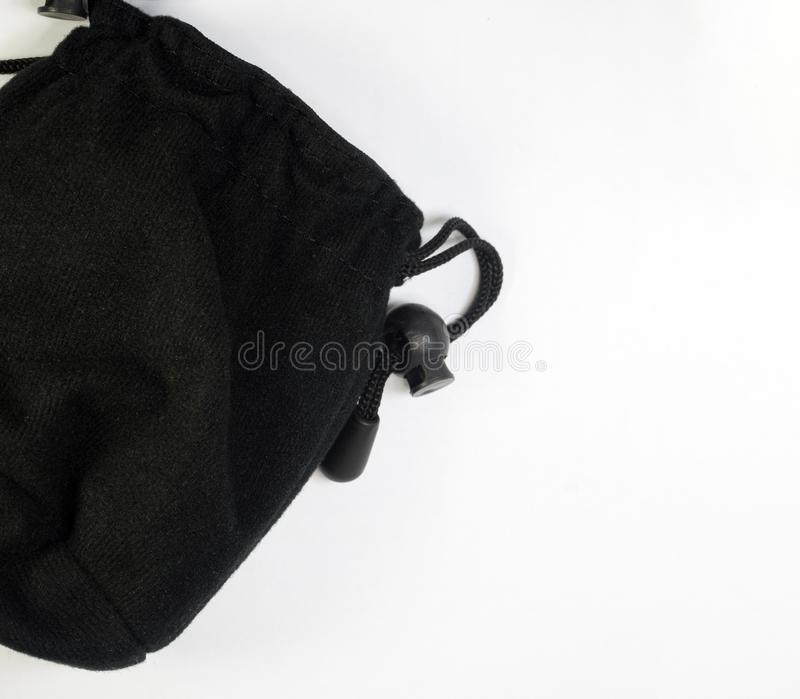 Pequeña bolsa negra fotos de archivo