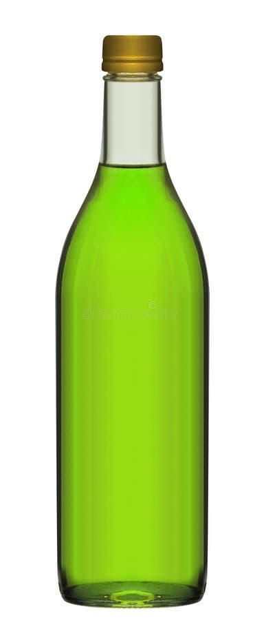 Pequeña botella de cerveza verde fotografía de archivo