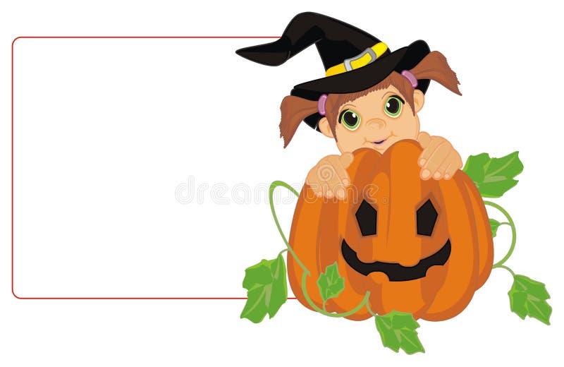 Pequeña bruja y papel limpio libre illustration