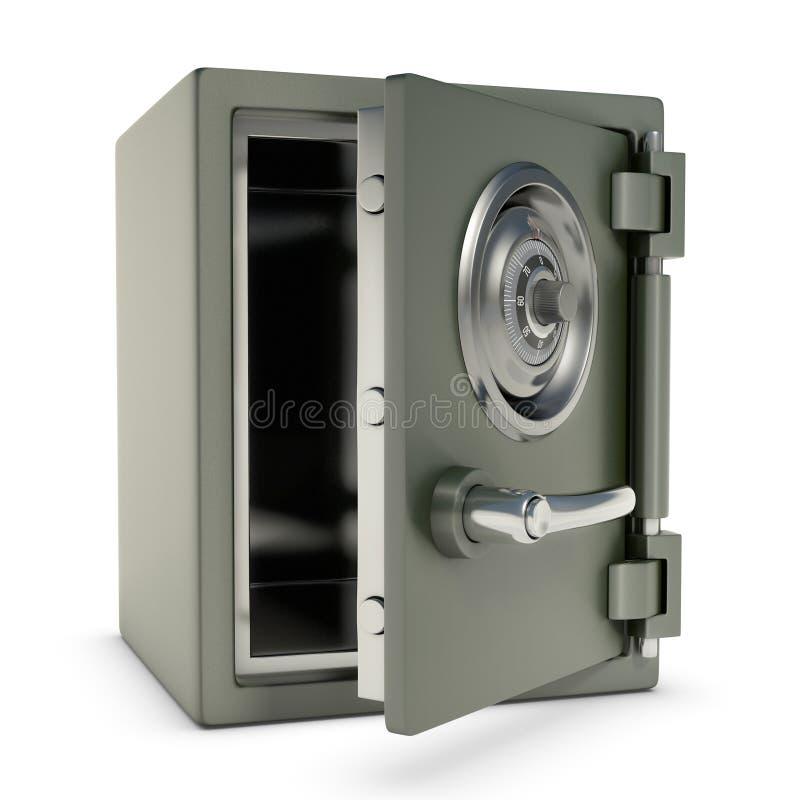 Pequeña caja fuerte abierta stock de ilustración