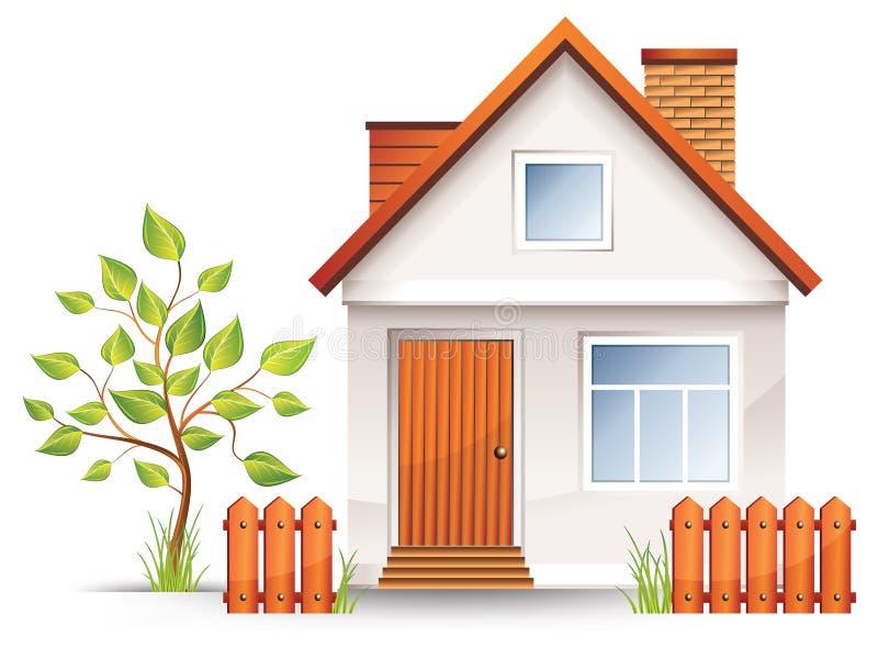 Pequeña casa stock de ilustración