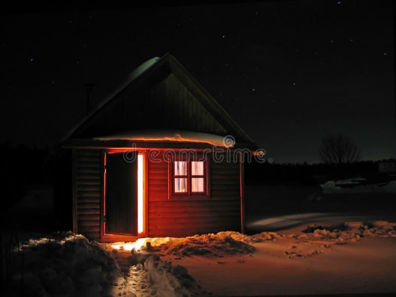 Pequeña casa de la Navidad imagen de archivo