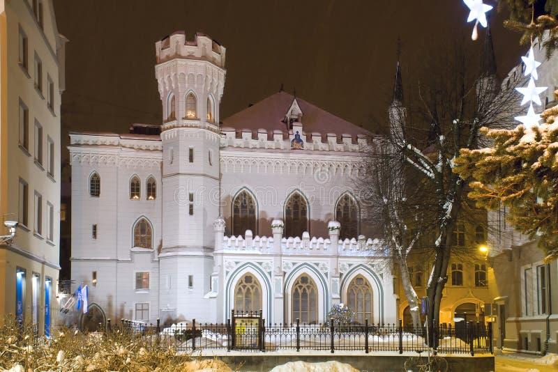 Pequeña casa del gremio. Riga, Latvia foto de archivo