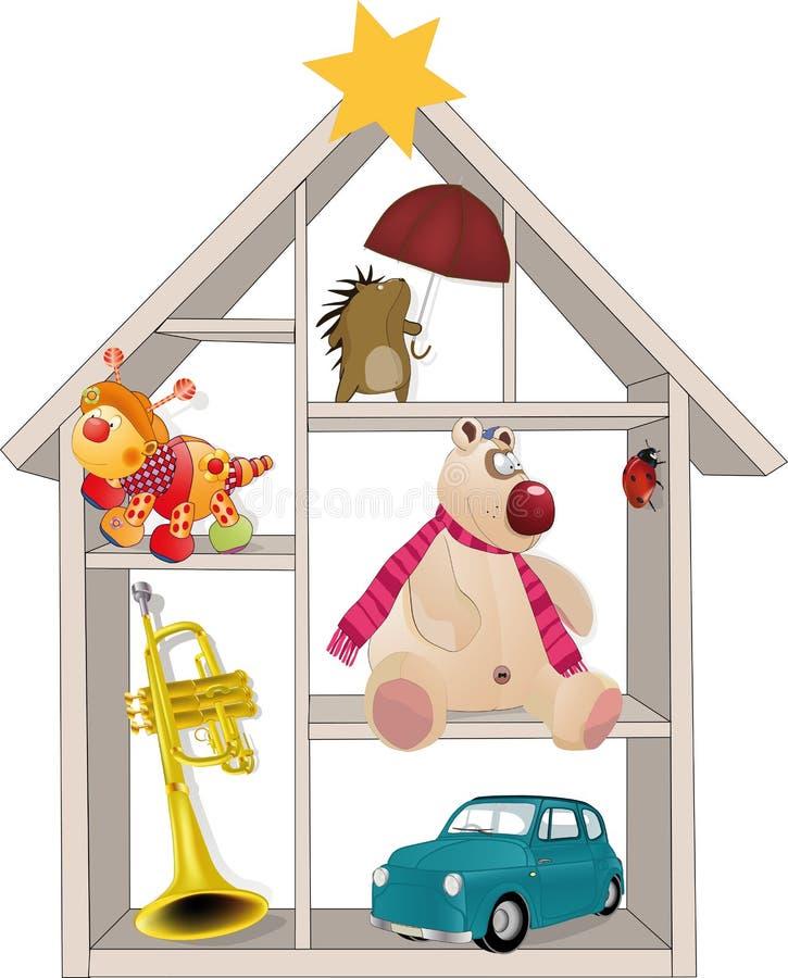 Pequeña casa del juguete ilustración del vector