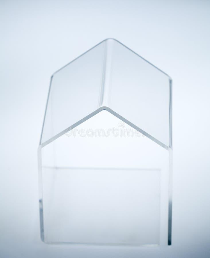 Pequeña casa transparente foto de archivo