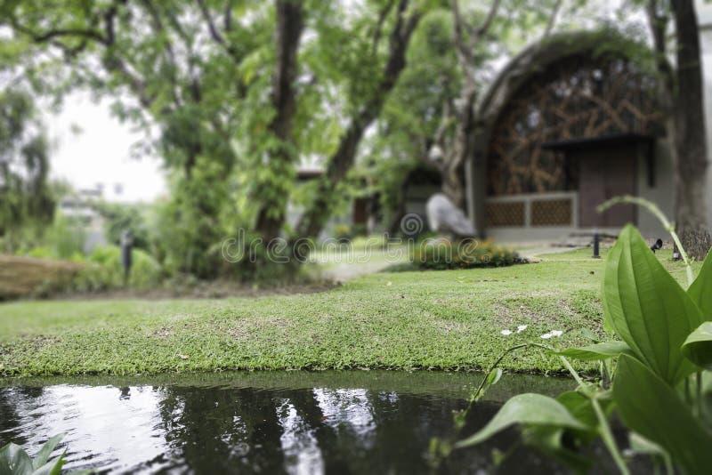 Pequeña choza en el centro turístico fotografía de archivo libre de regalías