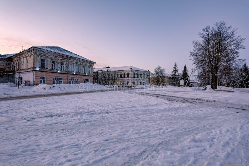 Pequeña ciudad de Poshekhonie, región de Yaroslavl, Rusia imagen de archivo