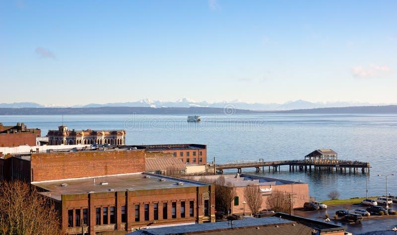 Pequeña ciudad en Washington State fotos de archivo