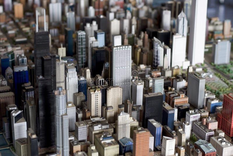 Pequeña ciudad grande foto de archivo libre de regalías