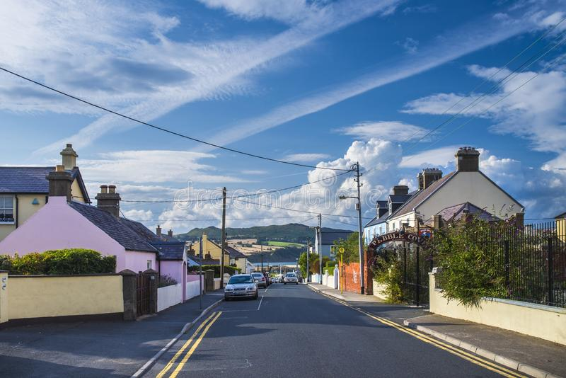 Pequeña ciudad 'Greystones' en Irlanda Adultos jovenes imagen de archivo libre de regalías