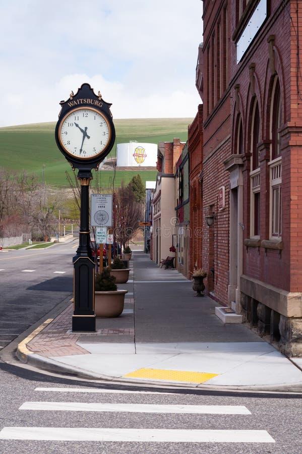 Pequeña ciudad los E.E.U.U. Waitsburg Washington Eastern State de Main Street fotografía de archivo
