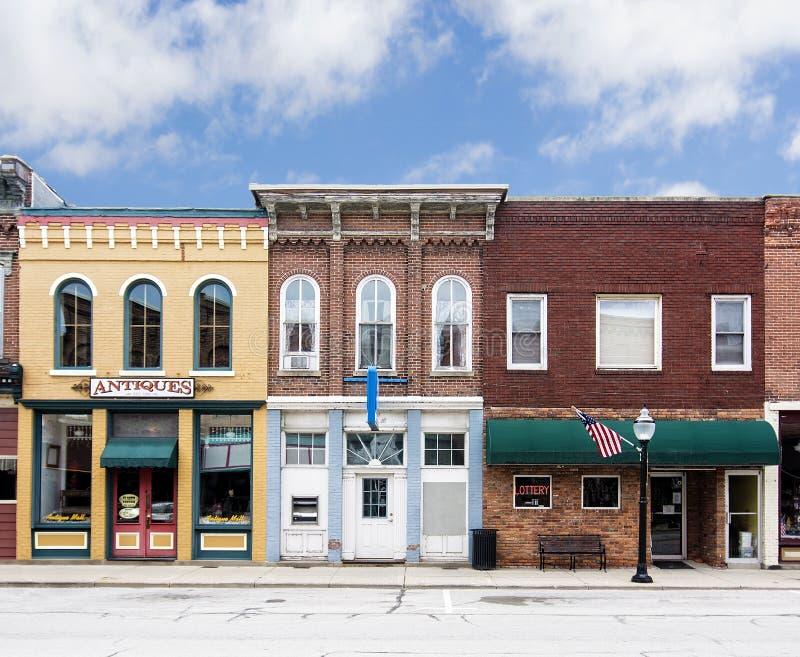 Pequeña ciudad Main Street imagen de archivo libre de regalías