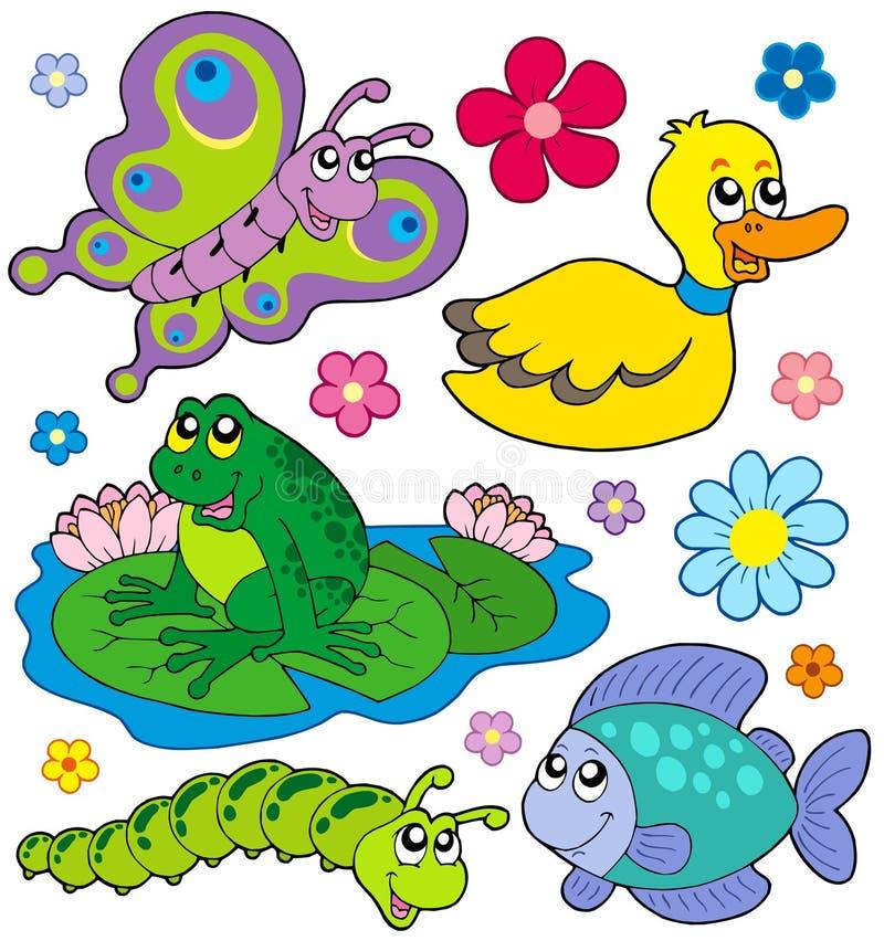 Pequeña colección 8 de los animales ilustración del vector