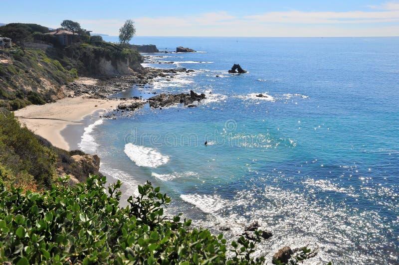 Pequeña Corona Del Mar Beach imágenes de archivo libres de regalías
