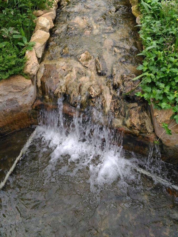 Pequeña corriente del agua fotografía de archivo libre de regalías