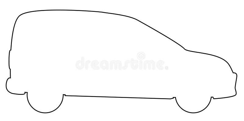 Pequeña entrega Van Outline libre illustration