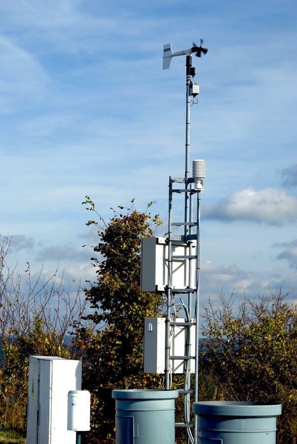 Pequeña estación meteorológica fotografía de archivo