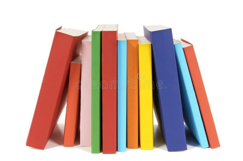 Pequeña fila de libros en blanco imagen de archivo libre de regalías